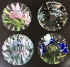 Set of Four Sydenstricker Fused Art Glass Ruffled Edge Bowls Signed Cape Cod MA