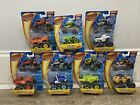 SET OF 7 BLAZE AND THE MONSTER MACHINES DIE CAST TRUCKS RACING FLAG NEW