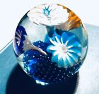 Venetian Murano Glass Trumpet Flower Controlled Bubble Fratelli Toso Paperweight