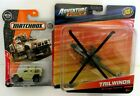 Die Cast Army Military Helicopter AH 64 Apache Oshkosh Defense M ATV Vehicle Lot