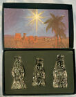 Waterford Marquis 3 Wise Men Nativity Set FREE SHIPPING