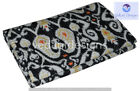 Indian Embroidery Kantha Quilt Bedspread Black Throw Cotton
