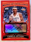 2005-06 Carmelo Anthony Topps Marks Of Excellence Autograph Auto ME-CA