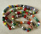 Vintage Murano Millefiori Venetian Art Glass Trade Bead End of Day Necklace 31