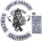 Sons of Patch Anarchy Biker Motorcycle Back Patches Iron On Large Size Embroider