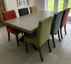 Concrete Extendable Dining Table with 6 Chairs 180 X 100cm COLLECT BERKSHIRE