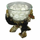 Black Bear Glass Candy Dish with Birch Branches Decorative Bowl