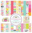 New Doodlebug 12 x 12 Paper Pack Cute and Crafty