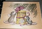 House mouse catnip for kittystampabilities bigB56rubber wood