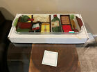 Peggy Karr Glass 20 Wine Cheese 3 Sectional Tray Signed