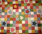 Cotton patchwork Quilt Pattern Cheaters Quilt by fabri quilt inc 4 Yards + 30