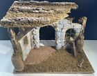 Wooden Christmas Jesus Manger Creche Large 165 x 85 x 12 in Nativity Stable