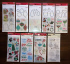 9 Recollections Christmas Themed Clear Stamp Die Sets 4 Sticker Packs