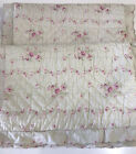 Simply Shabby Chic Green Lady Rose Floral Quilted Scallop Standard Shams Pair 2