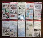 10 Recollections Christmas Themed Clear Stamp Die Sets 10 Stamp Packs