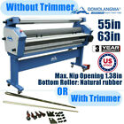 USA 110V 55in 63in Full auto Wide Cold Roll Laminator Max Nip Opening 138in
