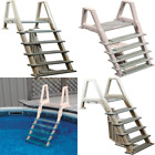 Inpool Ladder for Deck 42 56 in H Above Ground Swimming Pool Stair Steps Confer