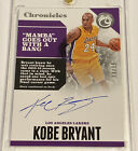 KOBE BRYANT 2017-18 Panini Chronicles Signed On Card Auto Autograph SILVER SSP
