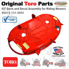 Genuine OEM Toro 42 Deck and Decal Assembly for Riding Mowers 74655 131 3604
