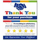 Thank You Cards for eBay etsy Small Business Order Notes Set 100 250 500 1000