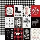 Little Lumberjack Double Sided Cardstock 12X12 3X4 Journaling Card 25 Pack