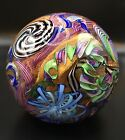 James Alloway Art Glass GIANT Paperweight Early 2004 4 Gaffers Revenge 338