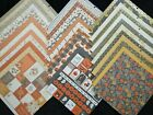 36 Lot 12X12 Scrapbook Paper Cardstock Fall Halloween Rustic Plaids Double Sided