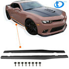 Pair Side Skirts Extention Add on Body Kit For 2010 2015 Chevy Camaro LT LS SS