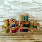 39x Vintage Belding Corticelli Sewing Thread on Wooden Spools Cotton Silk Poly