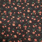 8 Yds Calico Pink black Flowers Floral Cotton Fabric Cranston Print Works VIP