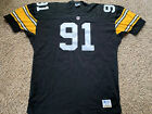 Pittsburgh Steelers Kevin Greene #91 Starter Authentic Jersey Size 52 Game Cut