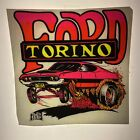 Vintage 70s Ford Torino Rats Hole dayglo car iron on heat transfer original