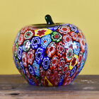 A Stunning Millefiori Murano Glass Apple Paperweight Complete With Sticker