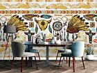 3D Native Pattern Wallpaper Wall Mural Removable Self adhesive Sticker4671