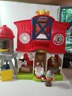Fisher Price Little People Animals Farm Barn Farmer with Cow Horse and Chicken