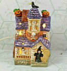 Vintage Halloween Haunted House Light up Ceramic Ghosts Goblins Witch Decoration