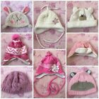 George Matalan Baby Girl Winter Knitted Hats Set size 0-3 months