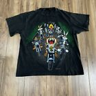 Vintage 1993 Looney Tunes Motorcycles All Over Print T Shirt Mens XL