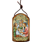 GDeBrekht 87049 Inspirational Icon Nativity With Angel Wooden Ornament