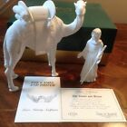 Lenox Nativity Standing Camel and Driver White Bisque Limited Edition 1991