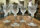4 Lot St Louis Crystal Tommy Continental Water Goblet Set France 7 1 8 Mint