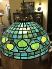 Vintage Tiffany Studios Reproduction Leaded Stained Glass Vine Hanging Lamp