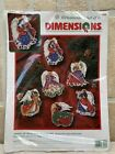 New ANGELS OF CHRISTMAS ORNAMENTS Dimensions Cross Stitch Kit JAMES HIMSWORTH