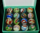 Collector Box of DAS Carnival Swirl Marbles Some With Aventurine KEEPERS 922 22