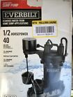Everbilt 1 2 HP Submersible Sump Pump With Vertical Switch Model HDPS50V