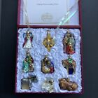 Old World Christmas OWC Glass Ornaments Nativity Boxed Set of 9 Mary Jesus Baby