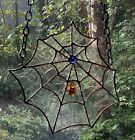 Stained Glass Spider Web with Spider