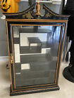 Lg Wall Mount Curio Cabinet Black Lacquer Display Asian Style Shadow Box Wow