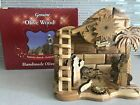 Holy MUSICAL NATIVITY SET w Incense Wise Men Animals Mary Baby Carved Olive Wood