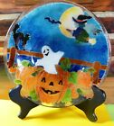 Peggy Karr Signed Halloween Bowl Fused Glass
